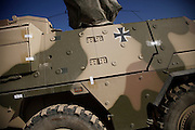 A still sealed german Boxer armored vehicle has arrived at german OP North, Northern Afghanistan