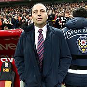 Genclerbirligi's coach Fuat Capa during their Turkish Super League soccer match Galatasaray between Genclerbirligi at the TT Arena at Seyrantepe in Istanbul Turkey on Friday, 08 March 2013. Photo by Aykut AKICI/TURKPIX