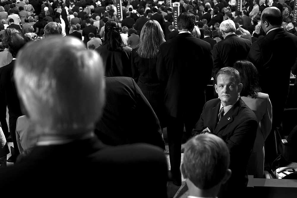 """By DEB RIECHMANN, Associated Press Writer <br /><br />MOOSIC, Pa. -  President Bush (news - web sites) began his post-convention campaign swing through three states he lost in 2000, telling a rally that he's the choice to build America's economy and keep the country safe from terrorists.  <br /><br /> """"If America shows uncertainty and weakness in this decade the world will drift toward tragedy,"""" he said. """"This will not happen on my watch.""""<br /><br /> Bush departed New York immediately after his Madison Square Garden speech and traveled to the battleground state of Pennsylvania, where he told an enthusiastic audience that """"we're coming down the stretch in this race.""""<br /><br /> Bush's supporters chanted """"flip flop, flip flop,"""" when Santorum suggested that Kerry changes his stance on issues. They booed when Santorum, appealing to conservative Republican voters, noted that Kerry had voted against a procedure abortion foes have labeled """"partial-birth abortion.""""<br /><br /> Balloons were still drifting down from the rafters of Madison Square Garden as the convention closed late Thursday when Bush hurried back to the campaign trail to pedal the main message of his speech: that he has the steadiest hand to guide the nation in perilous times.<br /><br /> Accepting his party's nomination for a second term at the GOP convention in New York, Bush told roaring delegates and a national TV audience, """"I believe this nation wants steady, consistent, principled leadership and that is why, with your help, we will win this election.""""<br /><br /> Speaking from a circular stage emblazoned with the presidential seal, Bush asked voters to reject Kerry's """"policies of the past.""""<br /><br /> """"We are on the path to the future — and we are not turning back,"""" Bush said, unveiling modest new proposals, including steps to tighten high-school testing, encourage investment in poor communities, reduce deficits and expand health care."""