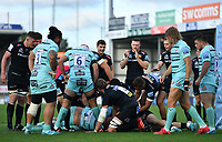 Rugby Union - 2019 / 2020 Gallagher Premiership - Exeter Chiefs vs Gloucester<br /> <br /> Exeter Chiefs' Luke Cowan-Dickie (hidden) scores his sides first try, at Sandy Park.<br /> <br /> COLORSPORT/ASHLEY WESTERN