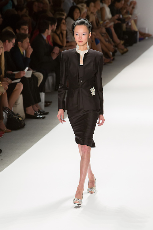 Black skirt and matching jacket. By Zang Toi, shown at his Spring 20132 Fashion Week show in New York.