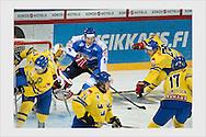 Niklas Hagman. Finland - Sweden. Helsinki, October 11, 2013.