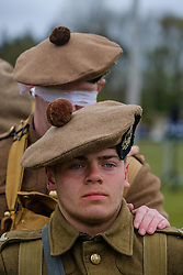 Sunday 7th May 2017 East Fortune:  Wartime Experience at the National Museum of Flight, East Fortune.  Enactors in the WW1 uniform of the Gordon Highlanders.<br /> <br /> (c) Andrew Wilson | Edinburgh Elite media