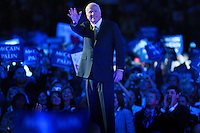 Senator John McCain arrives to accept the Republican nomination for president at the Republican National Convention in St. Paul, Minnesota.