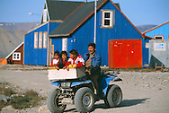 Inuit family, Scoresbysund, Ittoqottormiit, North East Greenland National Park, Greeenland