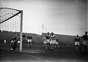 29/03/1958<br /> 03/29/1958<br /> 29 March 1958<br /> F.A.I. Cup Semi-Final: Shamrock Rovers v St. Patricks Athletic at Dalymount Park, Dublin.