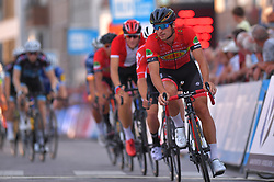 August 3, 2018 - Putte, BELGIUM - Belgian Roy Jans of Cibel pictured in action during the 3rd edition of the 'Natourcriterium Putte' cycling event, Friday 03 August 2018 in Putte. The contest is a part of the traditional 'criteriums', local races in which mainly cyclists who rode the Tour de France compete. BELGA PHOTO LUC CLAESSEN (Credit Image: © Luc Claessen/Belga via ZUMA Press)