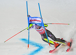 19.02.2019, Stockholm, SWE, FIS Weltcup Ski Alpin, Parallelslalom, Damen, im Bild Mikaela Shiffrin (USA) // Mikaela Shiffrin of the USA in action during the ladie's parallel slalom of FIS ski alpine world cup at the Stockholm, Sweden on 2019/02/19. EXPA Pictures © 2019, PhotoCredit: EXPA/ Nisse Schmidt<br /> <br /> *****ATTENTION - OUT of SWE*****