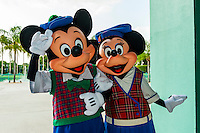 Mickey Mouse and Minnie Mouse, Fantasia Gardens Pavilion, Walt Disney World, Orlando, Florida USA