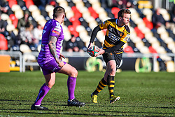 Newport's Geraint O'Driscoll in action - Mandatory by-line: Craig Thomas/Replay images - 04/02/2018 - RUGBY - Rodney Parade - Newport, Wales - Newport v Ebbw Vale - Principality Premiership
