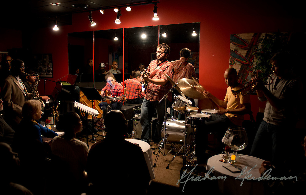 the Marcus Finnie Band at Nine48Jazz in Nashville, TN - with special guest trumpeter Rick Braun