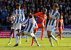 Fabian Delph of Manchester City fires a shot at goal  - Mandatory by-line: Matt McNulty/JMP - 18/02/2017 - FOOTBALL - The John Smith's Stadium - Huddersfield, England - Huddersfield Town v Manchester City - Emirates FA Cup fifth round