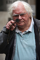 KEN RUSSELL SIGHTS UP HIS WALKING STICK PIC JACK LUDLAM