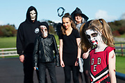 Halloween mad The Geoghegans from Rosscahill, Parents Mike and Sharon with kids  Michael Ava and Ella  . Photo:Andrew Downes, xposure.ie