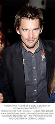 Actor ETHAN HAWKE at a party in London on 5th September 2002.PCZ 17