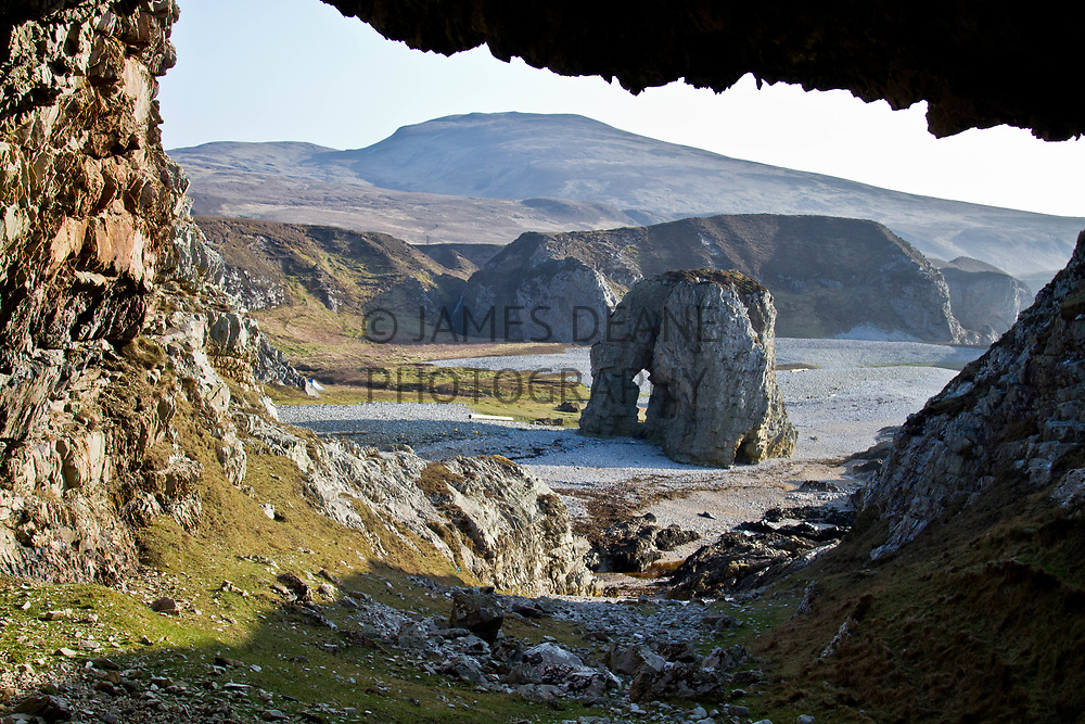 Typical of Islay's North Coast many of the coves are dominated by arches, stacks and caves