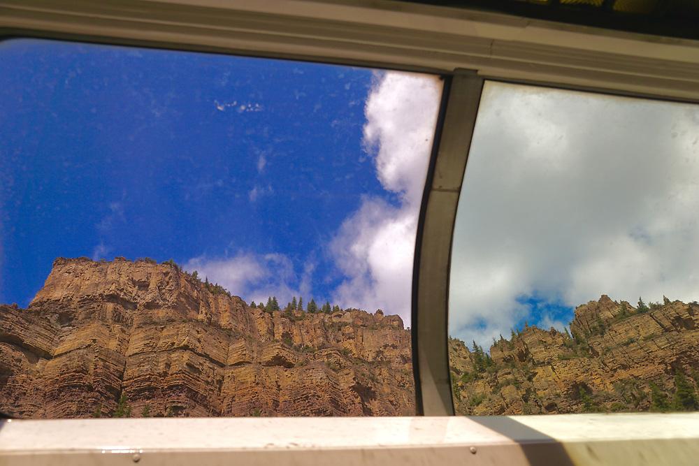 Scenic views, windows Amtrak leisure cars