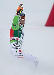 22.12.2013, Gran Risa, Alta Badia, ITA, FIS Ski Weltcup, Alta Badia, Riesenslalom, Herren, 2. Durchgang, im Bild Fritz Dopfer (GER) // Fritz Dopfer of Germany reacts in the finish Area during 2nd run of mens Giant Slalom of the Alta Badia FIS Ski Alpine World Cup at the Gran Risa Course in Alta Badia, Italy on 2012/12/22. EXPA Pictures © 2013, PhotoCredit: EXPA/ Johann Groder