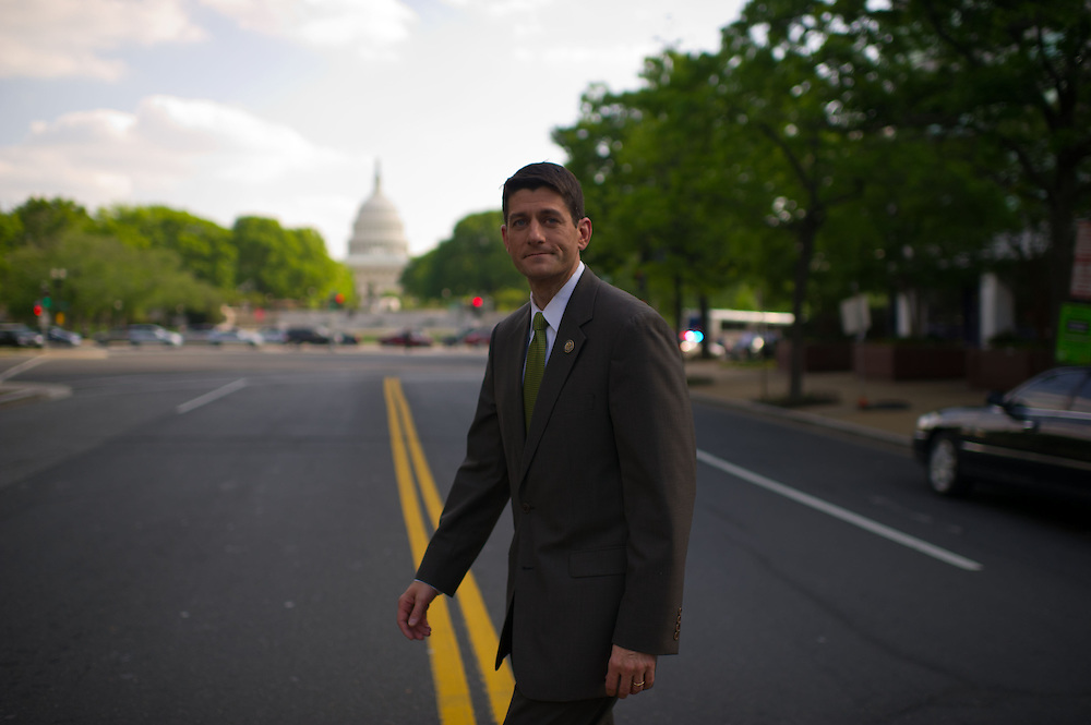 Rep. Paul Ryan (R-WI) leaves 400 N. Capitol St. NW on Thursday, April 19th, 2012 in Washington. (Photo by Jay Westcott/Politico)