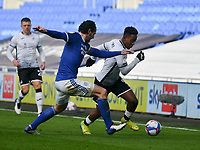 Football - 2020 / 2021 Sky Bet Championship - Cardiff City vs Swansea City - Cardiff City Stadium<br /> <br /> Jamal Lowe of Swansea on the attack chased by Sean Morrison of Cardiff City in a stadium without fans because of the pandemic crisis<br /> <br /> COLORSPORT/WINSTON BYNORTH