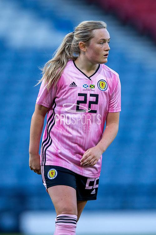 Erin Cuthbert (#22) of Scotland during the International Friendly match between Scotland Women and Jamaica Women at Hampden Park, Glasgow, United Kingdom on 28 May 2019.