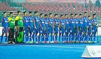 LUCKNOW (India) -   Junior World Cup hockey  U21 for men .  Netherlands v Malaysia (7-2).  Line up Malaysia. COPYRIGHT  KOEN SUYK