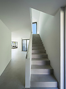 architecture, interior modern house, cement staircase