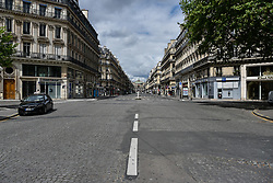 Avenue de l'Opéra on the 43rd day of lockdown to prevent the spread of Covid-19. Paris, France on April 28, 2020. Photo by Vincent Gramain/ABACAPRESS.COM