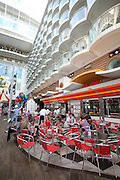 The launch of Royal Caribbean International's Oasis of the Seas, the worlds largest cruise ship..Johnny Rockets on the Boardwalk