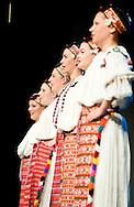 Folklorni ansambl Broda (Brod Folklore Ensemble) perform on the opening night of the Brodsko kolo, in Slavonski Brod, Croatia (7 June 2013). The Brodsko kolo, now in its 49th year, is the oldest folk dancing festival in Croatia.