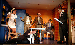 A Respectable Wedding<br /> Translated by Rory Bremner<br /> at the Young Vic Theatre, London, Great Britain<br /> press photocall<br /> 3rd April 2007<br /> <br /> Doon Mackichan and cast<br /> James Corden <br /> <br /> <br /> Photograph by Elliott Franks