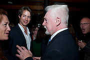 TOM WISDOM; SIR DEREK JACOBI,  Party after the European premiere of Creation  at the Curzon Mayfair. Party at 17 Berkeley St. London.  13 September 2009.