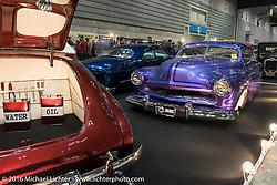 Custom cars at the Mooneyes Yokohama Hot Rod & Custom Show at the Pacifico exhibition hall. Yokohama, Japan. December 3, 2016.  Photography ©2016 Michael Lichter.