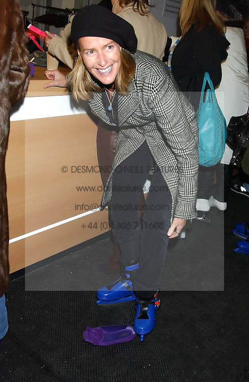 INDIA HICKS at the opening of the Natural History Museum's Ice Rink on 16th November 2005.<br />