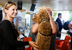 Anze Kopitar's wife Ines during reception after Anze and his team Los Angeles Kings 2nd time won Stanley cup in the final of NHL on May 26, 2014 in Airport Joze Pucnik, Brnik, Slovenia. Photo By Matic Klansek Velej  / Sportida