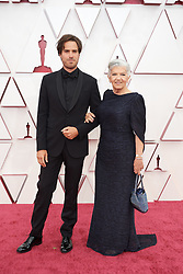 Joshua James Richards and Linda May arrives on the red carpet of The 93rd Oscars® at Union Station in Los Angeles, CA, USA on Sunday, April 25, 2021. Photo by A.M.P.A.S. via ABACAPRESS.COM
