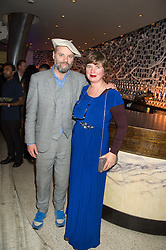 GAVIN TURK and DEBORAH CURTIS at a party to celebrate the 10th anniversary of Nobu Berkeley Street held on 5th November 2015.