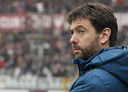 February 18, 2018 - Turin, Italy - Andrea Agnelli  during the Serie A match between Torino FC and Juventus at Stadio Olimpico di Torino on February 18, 2018 in Turin, Italy. (Credit Image: © Loris Roselli/NurPhoto via ZUMA Press)