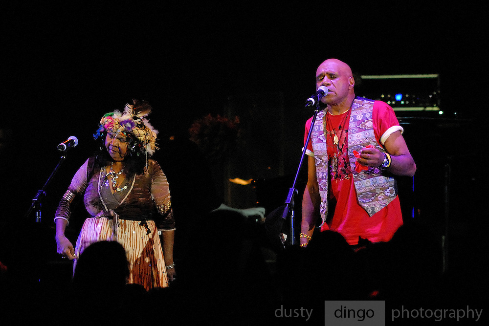 The late Ruby Hunter performing with partner Archie Roach.