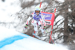 20.01.2011, Tofana, Cortina d Ampezzo, ITA, FIS World Cup Ski Alpin, Lady, Cortina, Abfahrt 2. Training, im Bild Blick von den Tribühnen im Bild Anna Fenninger (AUT, #11) // Anna Fenninger (AUT) during FIS Ski Worldcup ladies downhill second training at pista Tofana in Cortina d Ampezzo, Italy on 20/1/2011. EXPA Pictures © 2011, PhotoCredit: EXPA/ J. Groder