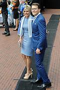 Koningsdag 2014 in Amstelveen, het vieren van de verjaardag van de koning. / Kingsday 2014 in Amstelveen, celebrating the birthday of the King. <br /> <br /> <br /> Op de foto / On the photo:  Prins Constantijn and Prinsess Laurentien  / Prince Constantijn and Princess Laurentien
