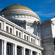 The outside of the main dome of the rotunda at the heart of the Smithsonian National Museum of Natural History on the National Mall in Washington DC.