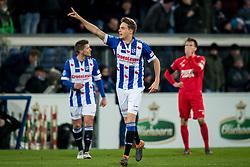 Daniel Hoegh of sc Heerenveen 1-0 during the Dutch Eredivisie match between sc Heerenveen and FC Twente Enschede at Abe Lenstra Stadium on February 03, 2018 in Heerenveen, The Netherlands