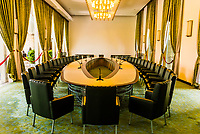 Cabinet room of the fomer South Vietnamese government, Reunification Palace (formerly the Presidential Palace), Ho Chi Minh City (Saigon), Vietnam.