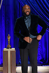 Tyler Perry accepts the Gene Hersholt Humanitarian Award during the live ABC Telecast of The 93rd Oscars® at Union Station in Los Angeles, CA, USA on Sunday, April 25, 2021. Photo by Todd Wawrychuk/A.M.P.A.S. via ABACAPRESS.COM