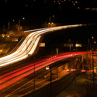 I-405 in Bellvue on a Saturday night
