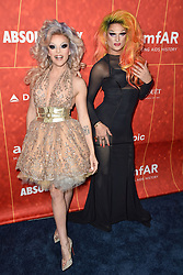Willam and Rhea Litré attend the amfAR Gala Los Angeles 2018 at Wallis Annenberg Center for the Performing Arts on October 18, 2018 in Beverly Hills, CA, USA. Photo by Lionel Hahn/ABACAPRESS.COM