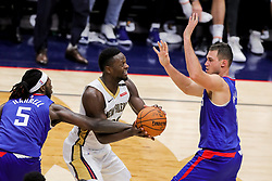 October 23, 2018 - New Orleans, LA, U.S. - NEW ORLEANS, LA - OCTOBER 23:  New Orleans Pelicans forward Julius Randle (30) on October 23, 2018, at Smoothie King Center in New Orleans, LA. (Photo by Stephen Lew/Icon Sportswire) (Credit Image: © Stephen Lew/Icon SMI via ZUMA Press)