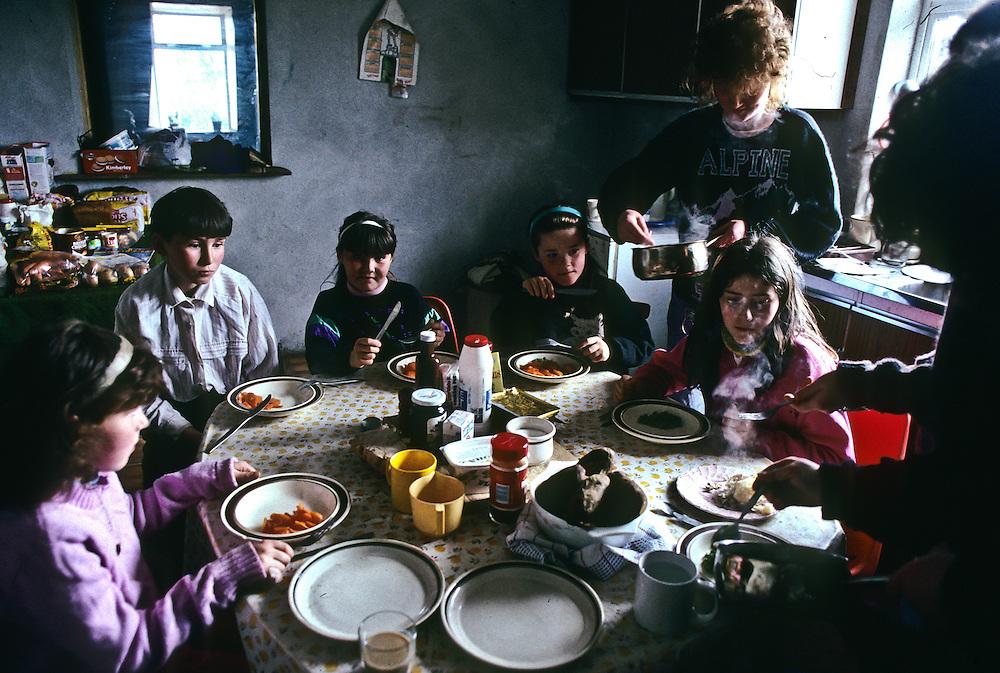 A farm family in Dingle, Ireland.