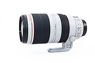 Side view of the Canon EF 100-400mm f/4.5-5.6L IS II USM zoom lens.